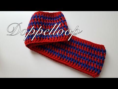 Doppelloop – Doppel Loop Schal häkeln