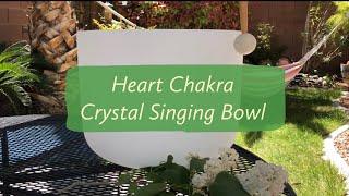 Heart Chakra Crystal Singing Bowl
