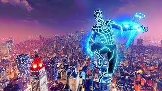 Spider-Man PS4 - The Neon Spider Ultra Combat, Amazing Web Slinging & Free Roam Gameplay