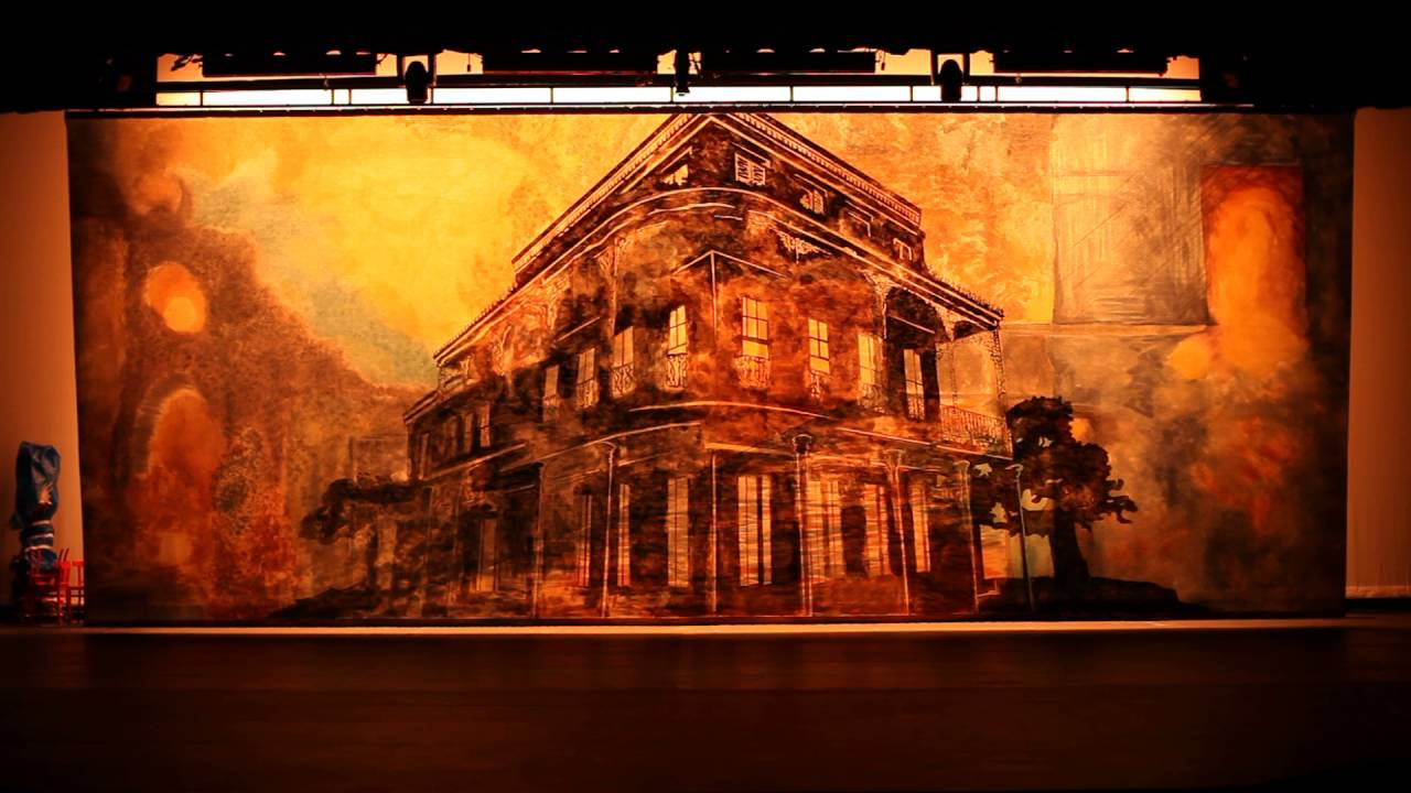Translucent Backdrop for A Streetcar Named Desire