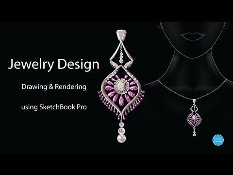 Jewelry Design Process- Sketching & Rendering using Sketchbook Pro