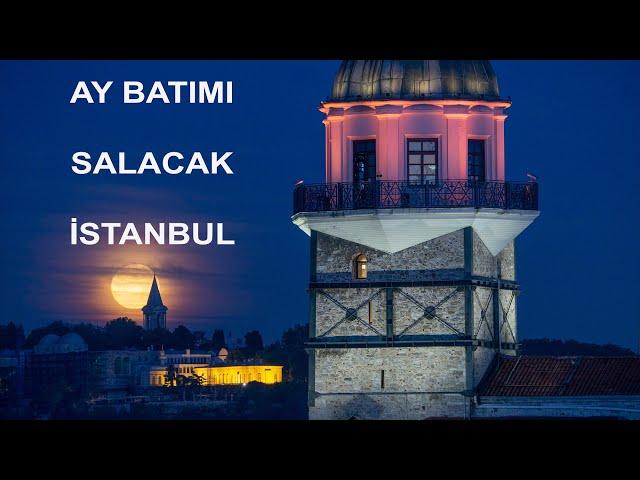 Salacak'tan AY batımı - İstanbul / Moonset in İstanbul
