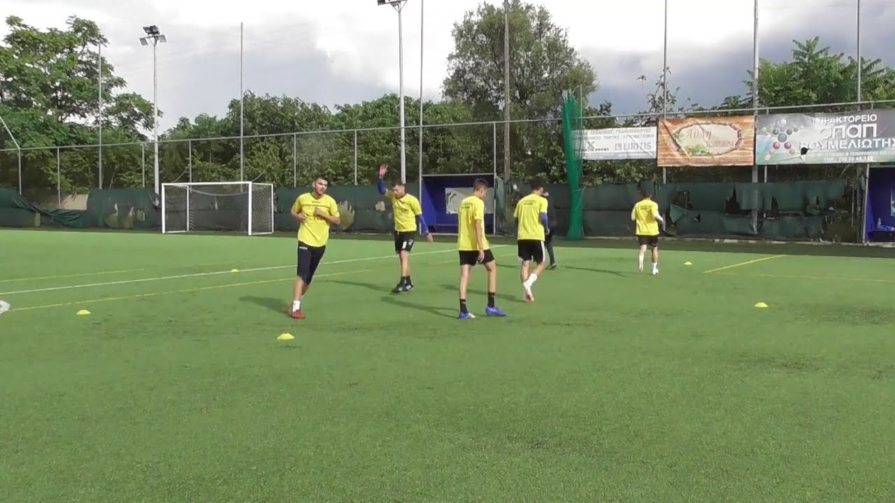 Soccer training ideas 9  (technical + dynamic stretching warm up, on fifths)