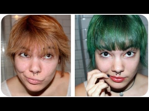 dark green hair turquoise without bleach dye hair turquoise without bleaching youtube
