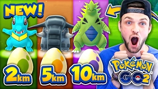 Pokemon GO - ALL *GEN 2* EGGS - 2km, 5km + 10km! (NEW POKEMON)
