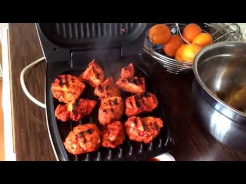 Cooking Chicken Tikka On A George Foreman Grill