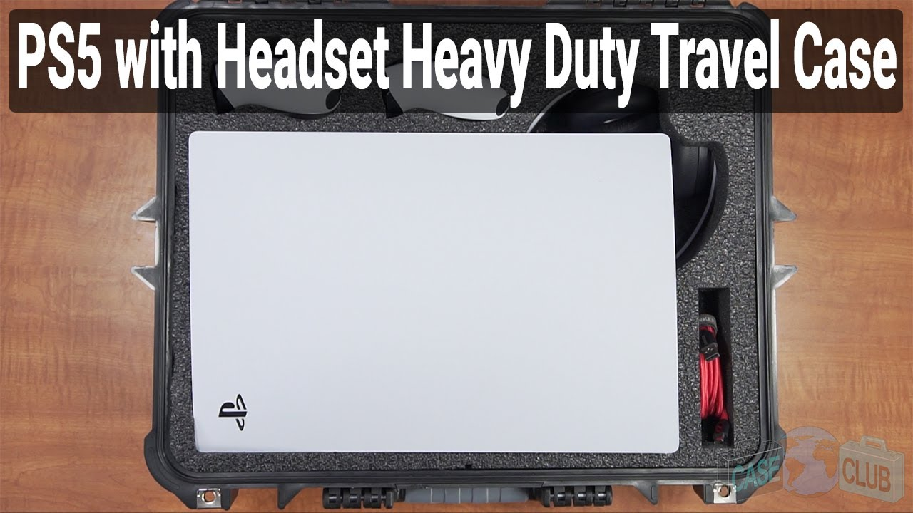 PlayStation 5 / PS5 with Headset Heavy Duty Travel Case (Gen-2) - Video