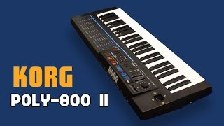 KORG POLY 800 II Analog Synthesizer 1986 NEW PATCHES HD DEMO
