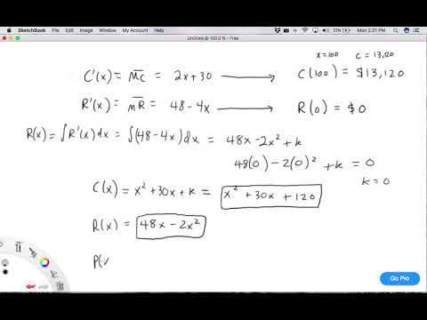 Marginal Cost and Revenue Functions