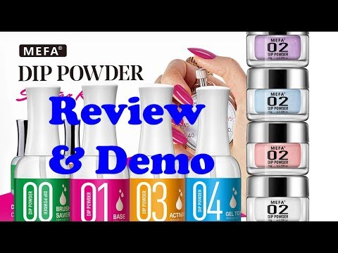 MEFA 3-Color Dip Powder Starter Nail Kit - review & demo