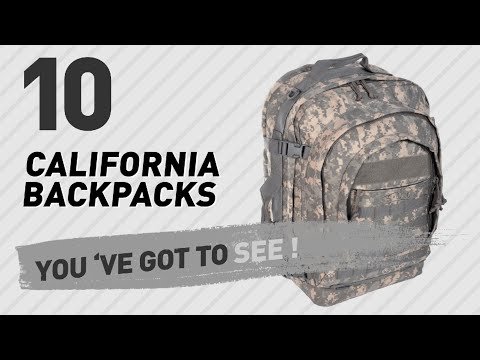 Top Backpacks By California // New & Popular 2017