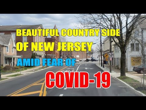 BEAUTIFUL COUNTRY SIDE VIEW OF NEW JERSEY USA AMID COVID-19 FEAR