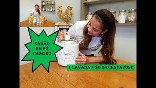 Sabão em Pó Caseiro o Melhor!! / Homemade laundry Detergent the Best !!
