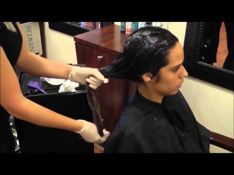 Выпрямление волос (кератирование) средством Keratin Research