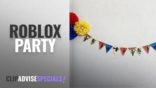 Top 10 Roblox Party [2018]: Roblox-Inspired Characters Bunting (Triangles, 6 ft) printed on