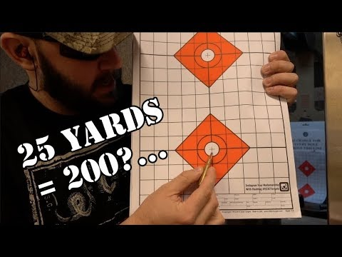 25 yards = 200 yards? How to sight your rifle indoors for the outdoors...