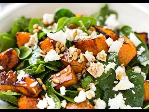 Roasted Pumpkin Spinach Salad