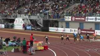 Usain Bolt - 100m Golden Spike Zlatá tretra - Ostrava