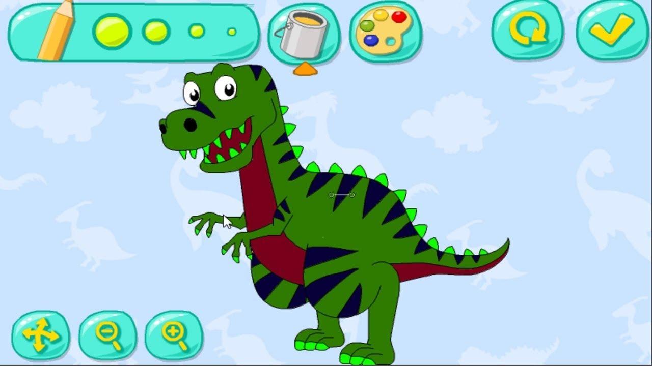 Colorindo Dinossauro Desenho Infantil Pintando Youtube