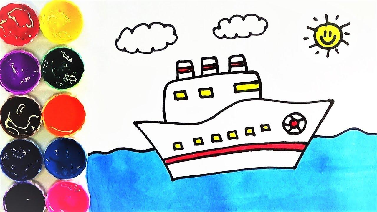 Dibujos De Barcos En El Mar Para Colorear Dibujos Para