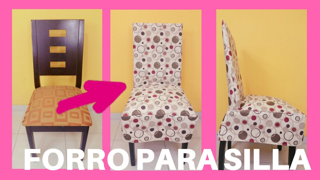 Forro o funda para sillas youtube for Sillas comedor estampadas