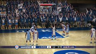 NCAA Basketball 10 (Xbox 360) HD Demo gameplay: Duke vs. North Carolina