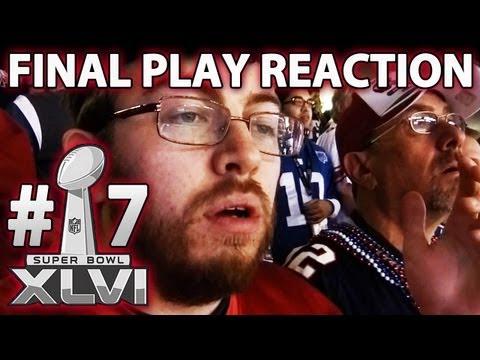Patriots Fan Reacts To Final Play *At* Super Bowl XLVI