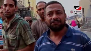 حملة أمنية لإزالة الإشغالات بمحيط مترو حدائق حلوان