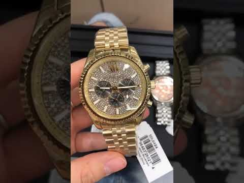 8edc18e56ddb Michael Kors Lexington Chronograph Men s Watch (MK8494) - YouTube
