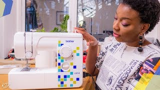 HOW TO: SET UP A NEW DOMESTIC SEWING MACHINE (BROTHER LS14) | BEGINNER FRIENDLY | KIM DAVE