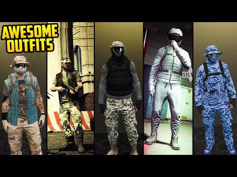 GTA Online FASHION FRIDAY! MORE AWESOME GUN RUNNNING OUTFITS! (Digital Ghost, Navy & More)