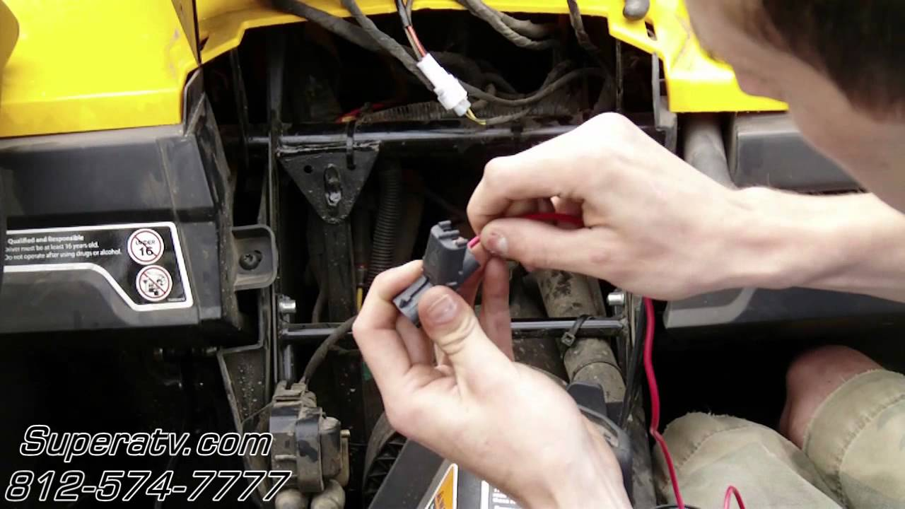 Can Am Commander Light Wiring Harness Install Super Atv Youtube Double Pole Switch Diagram Free Download