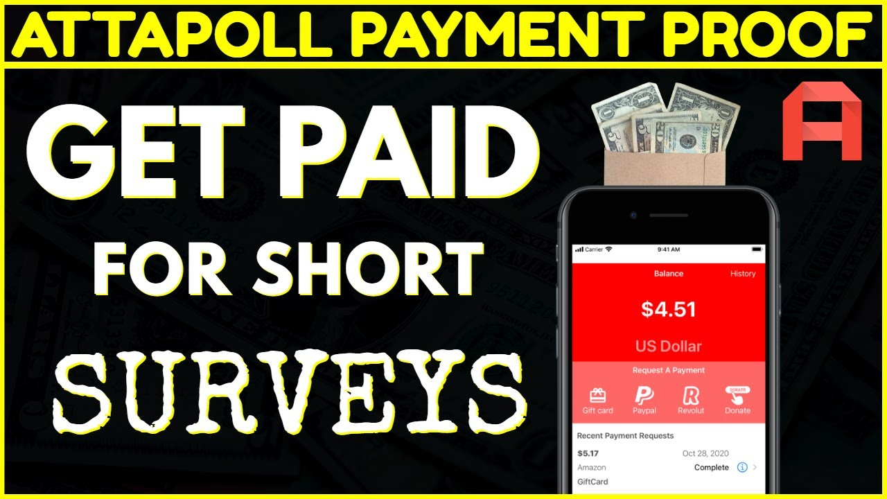 🟢 ATTAPOLL APP PAYMENT PROOF | Get Paid Paypal Payout's For Short Form Survey's