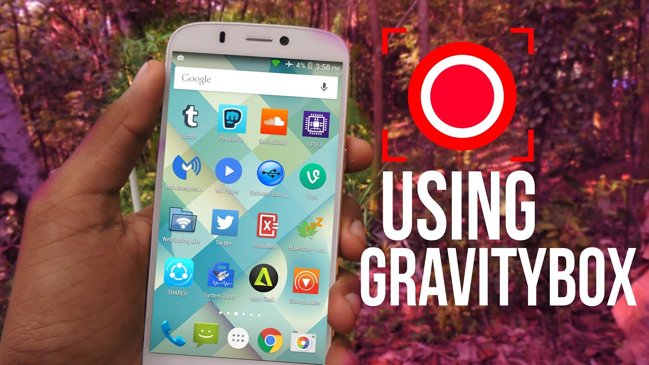 Image result for RECORD YOUR ANDROID SCREEN with gravity box