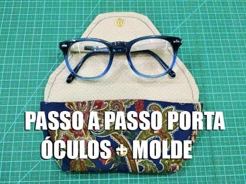 ba52a2d71 PAP Porta óculos + molde (Tutorial Patchwork) | Cantinho do Video Costura  em Roupas