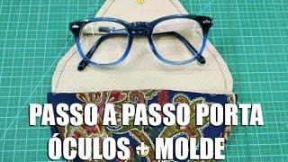 PAP Porta óculos + molde (Tutorial Patchwork)