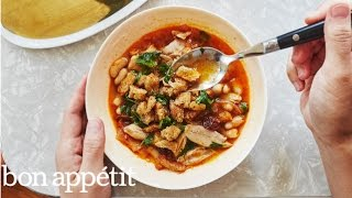 Quick Workweek Recipe: Chicken Stew with Cannellini Beans and Dried Cherries  Bon Appetit