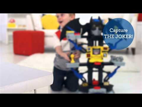 Smyths Toys - Fisher Price Imaginext DC Super Friends Transforming Bat Cave Play Set