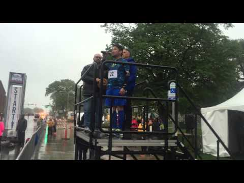 """Jim Diego - """"Star Spangled Banner"""" at the 2016 Drake Relays Road Races"""