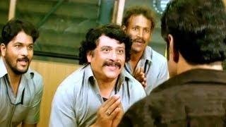 Mithrudu Fight Scene - Workers Careless Talks On Adithya's Wife - Balakrishna, Chandra Mohan