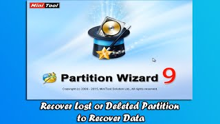 Recover Lost or Deleted Partition to Recover Data