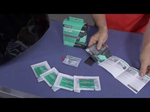 ISOPON Plastic Bumper Filler Repair Kit (UP5001) - YouTube