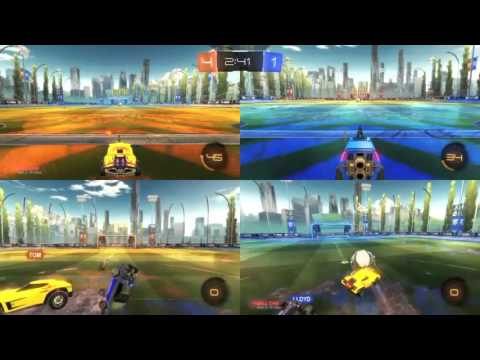 Rocket League local 4 player split screen