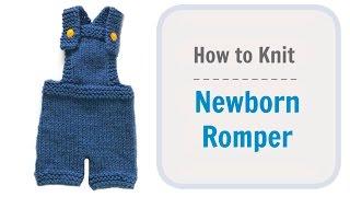 How to Knit Newborn baby Romper
