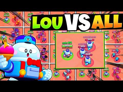 New Brawler LOU vs All 41 Brawlers 1v3 in Brawl Stars! (Lou Not OP...)