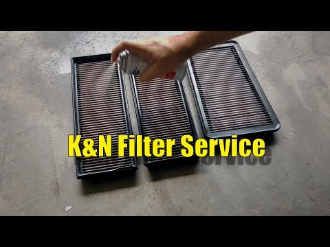 K&N Air Filter Service | Cleaning and Oiling