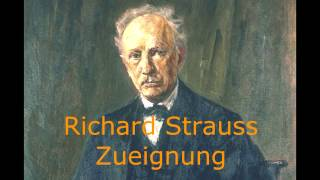 Richard Strauss - op10 no1 Zueignung (Vocal + Piano)