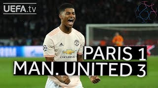 PARIS 1-3 MAN. UNITED #UCL HIGHLIGHTS