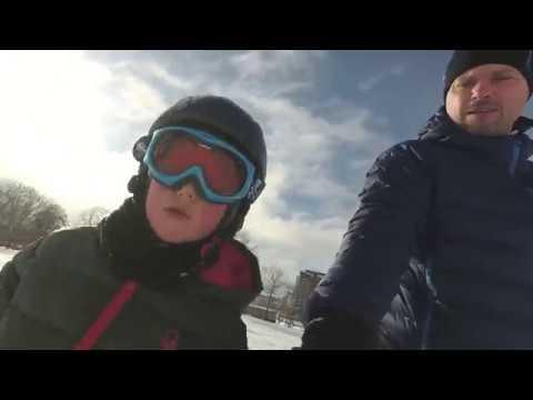 Vinter i Stockholm, sportlov med massor av snö