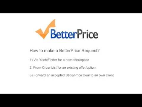 How to make a BetterPrice Request as Agent in YachtSys®
